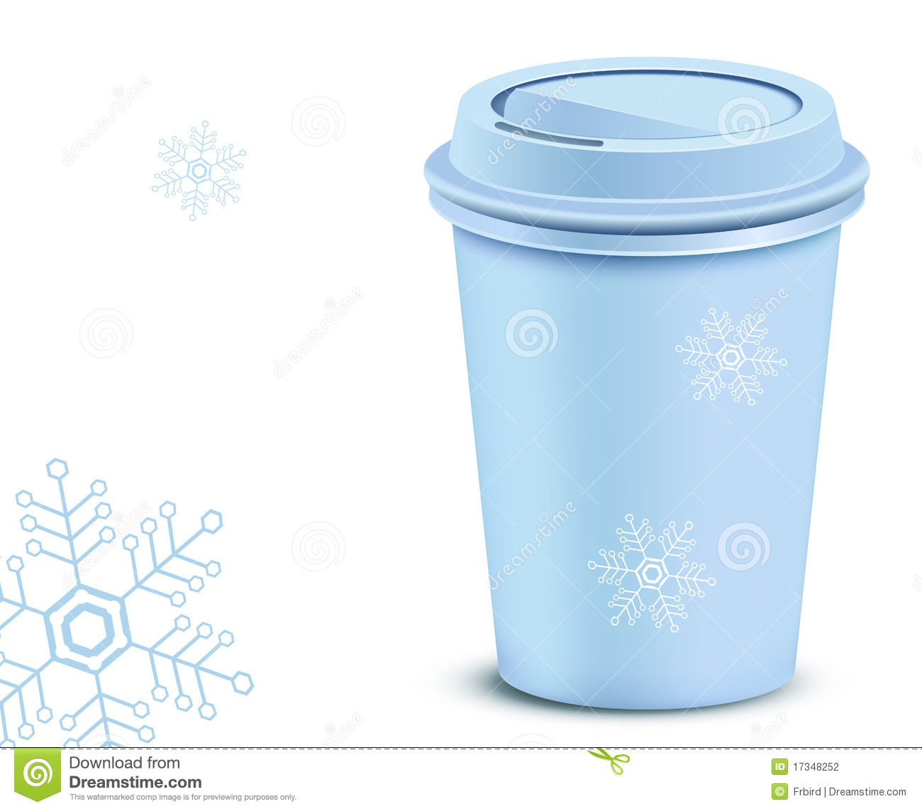 Plastic Coffee Cup With Lid Stock Vector