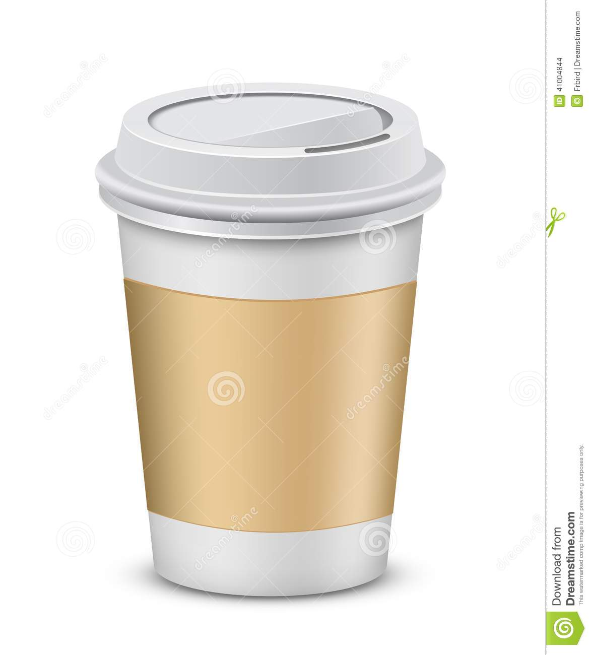 Plastic Coffee Cups With Lid Stock Vector - Image: 41004844