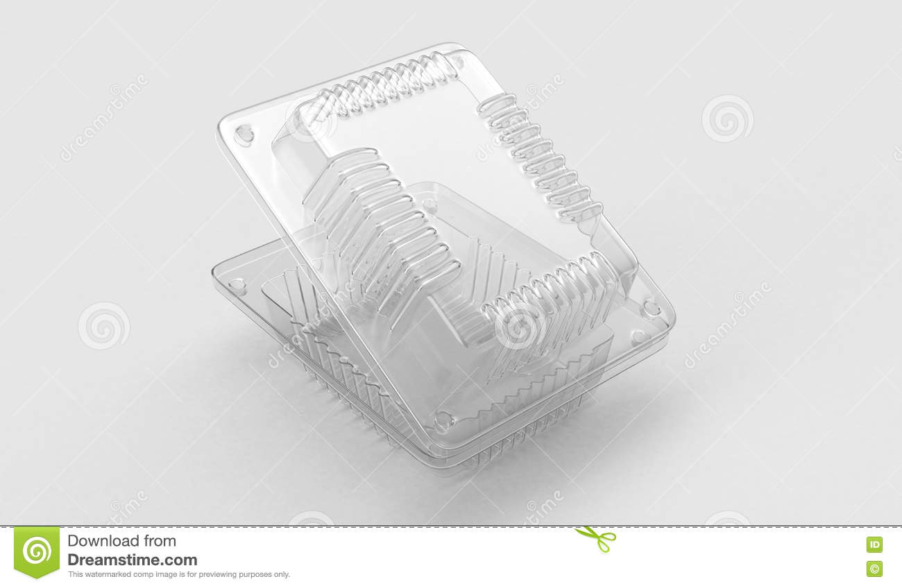Plastic container for food.3D . 3D rendering
