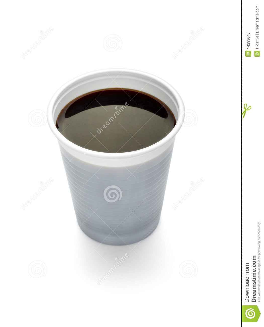 Plastic Cup Of Coffee Dring Beverage Food Office Royalty