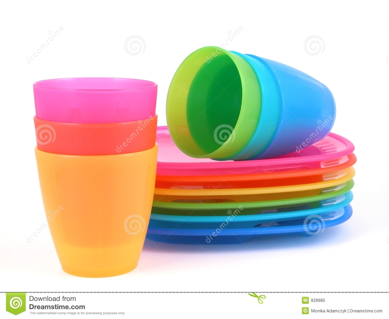 Plastic cups and plates stock image image of drinks - Cups and kids ...