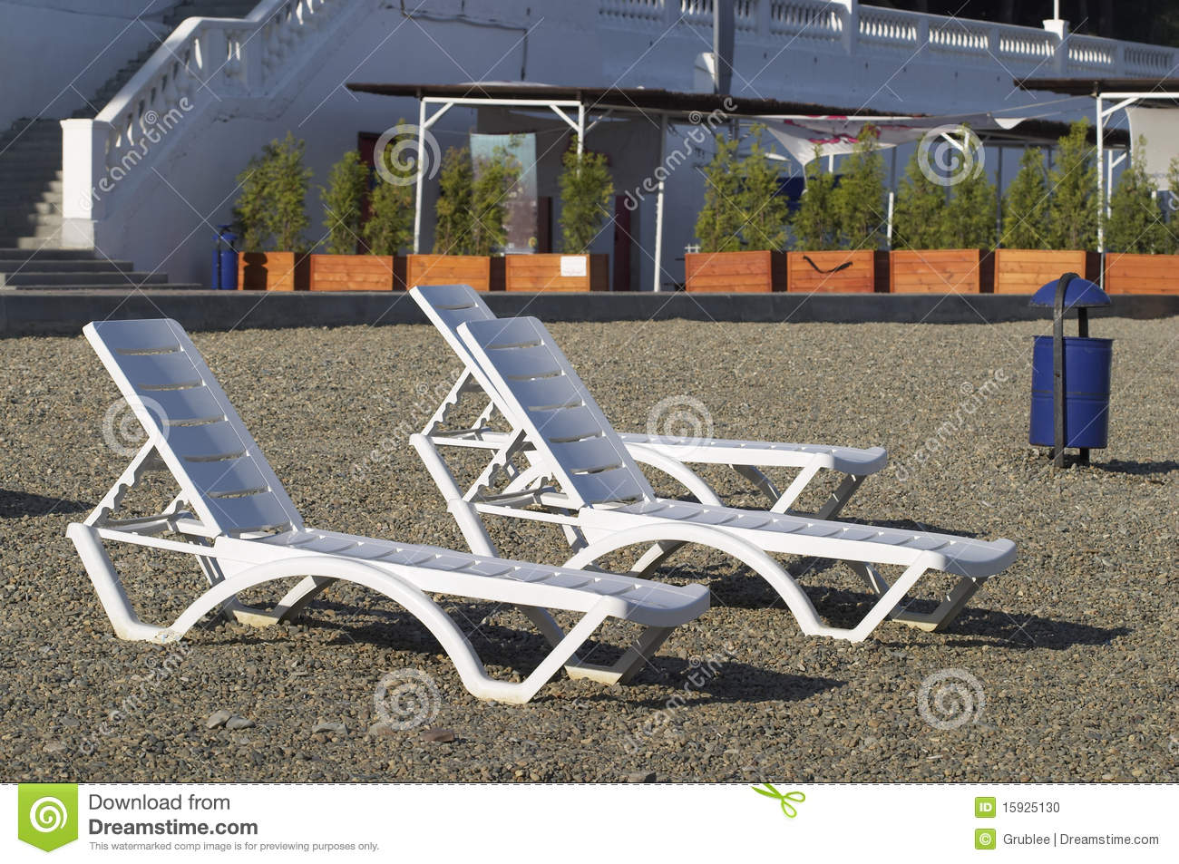 Plastic Deck chairs Stock Image