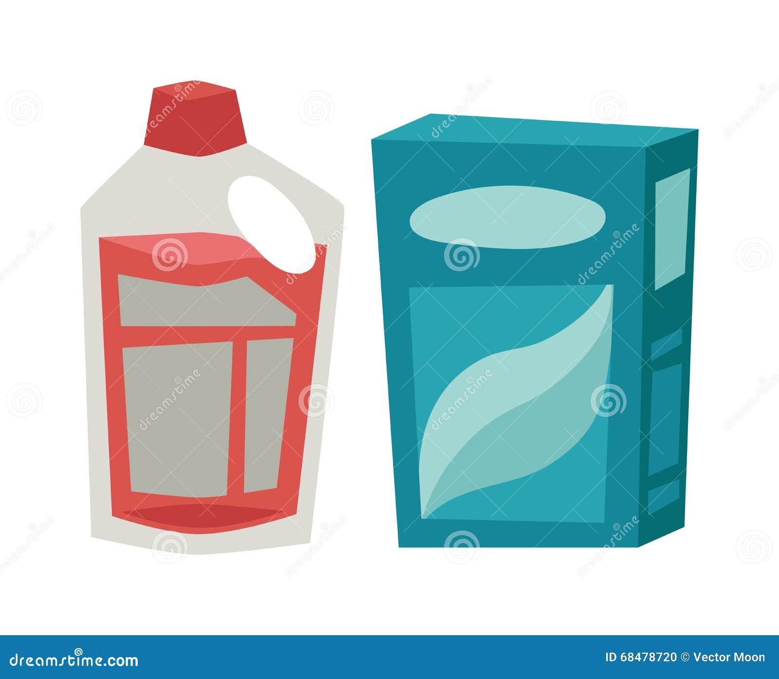 Laundry Detergent Box Clipart White laundry detergent powder container ...