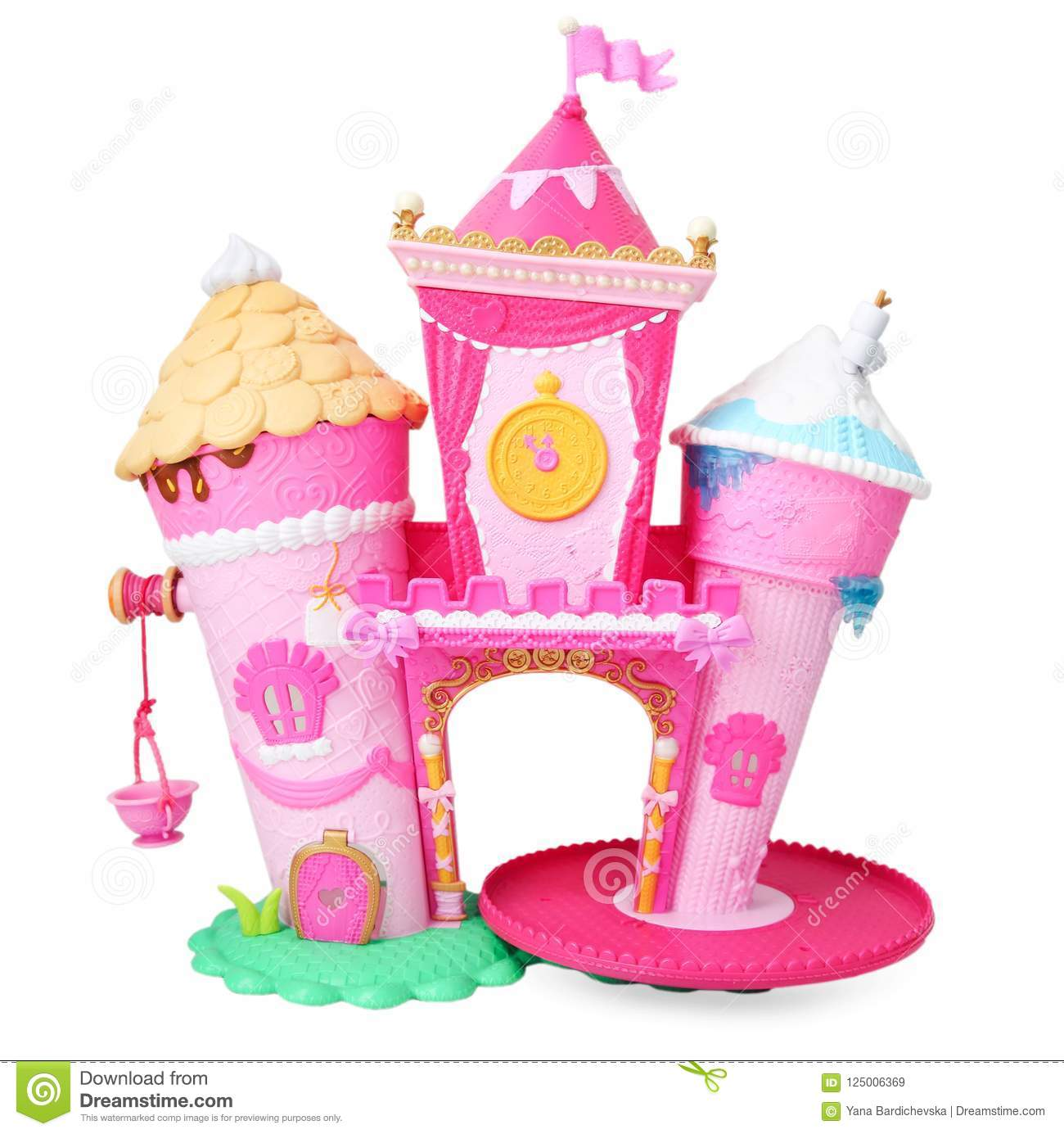 Plastic Doll House Isolated Stock Image Image Of Girl