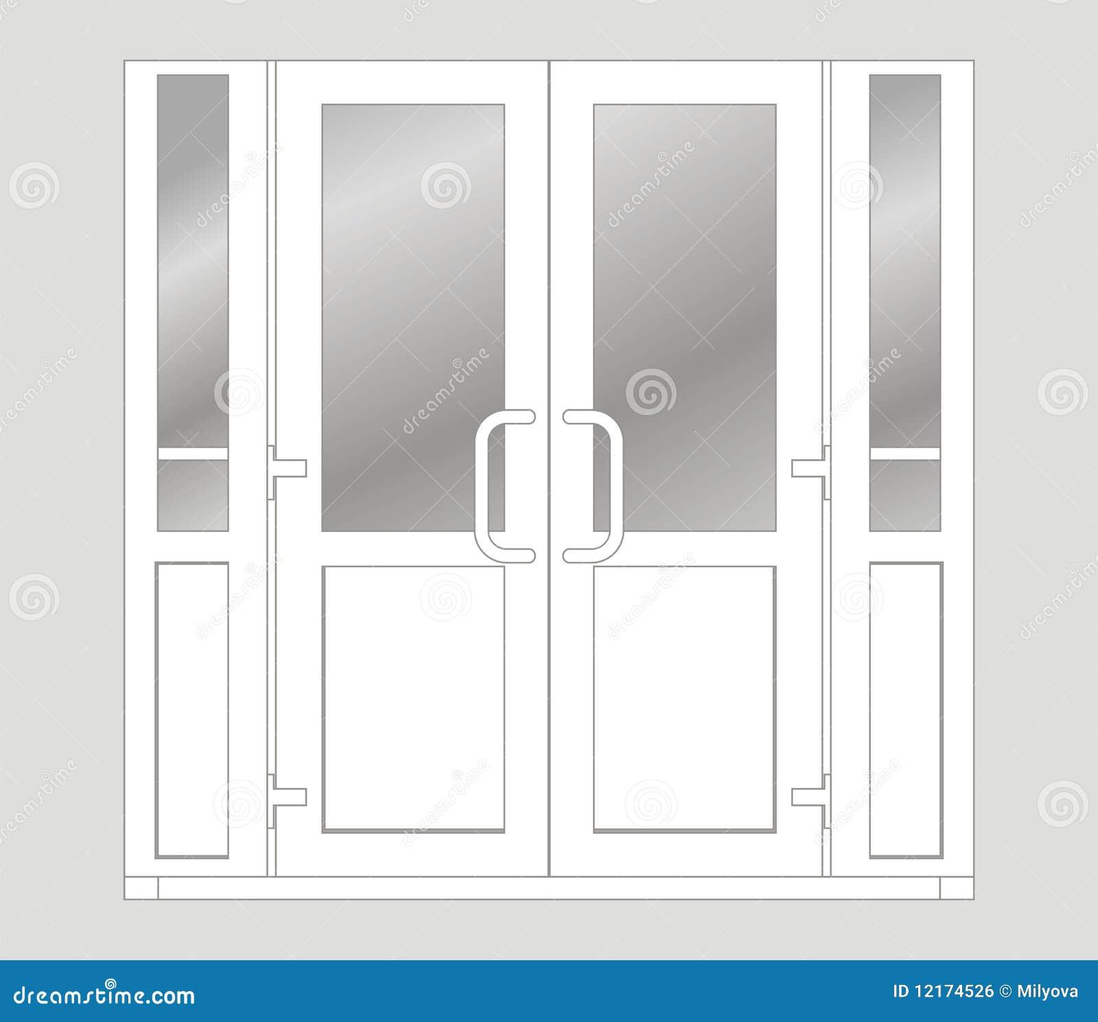 Plastic door  sc 1 st  Dreamstime.com & Plastic door stock illustration. Illustration of isolated - 12174526