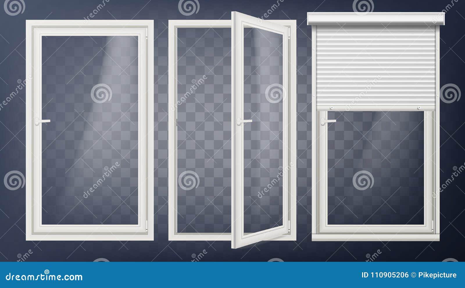 Plastic Door Vector Pvc Plastic Profile White Empty Roller Shutter