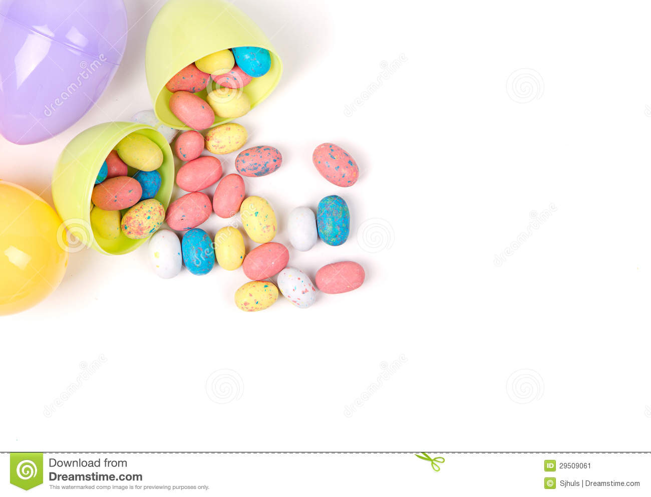 Plastic Easter Eggs And Candy