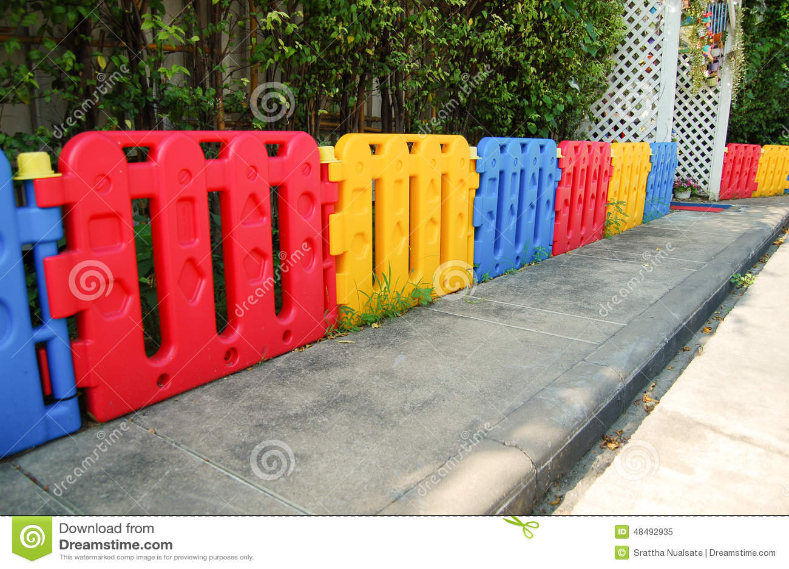 Plastic Fence For Child Stock Image Image Of Background 48492935