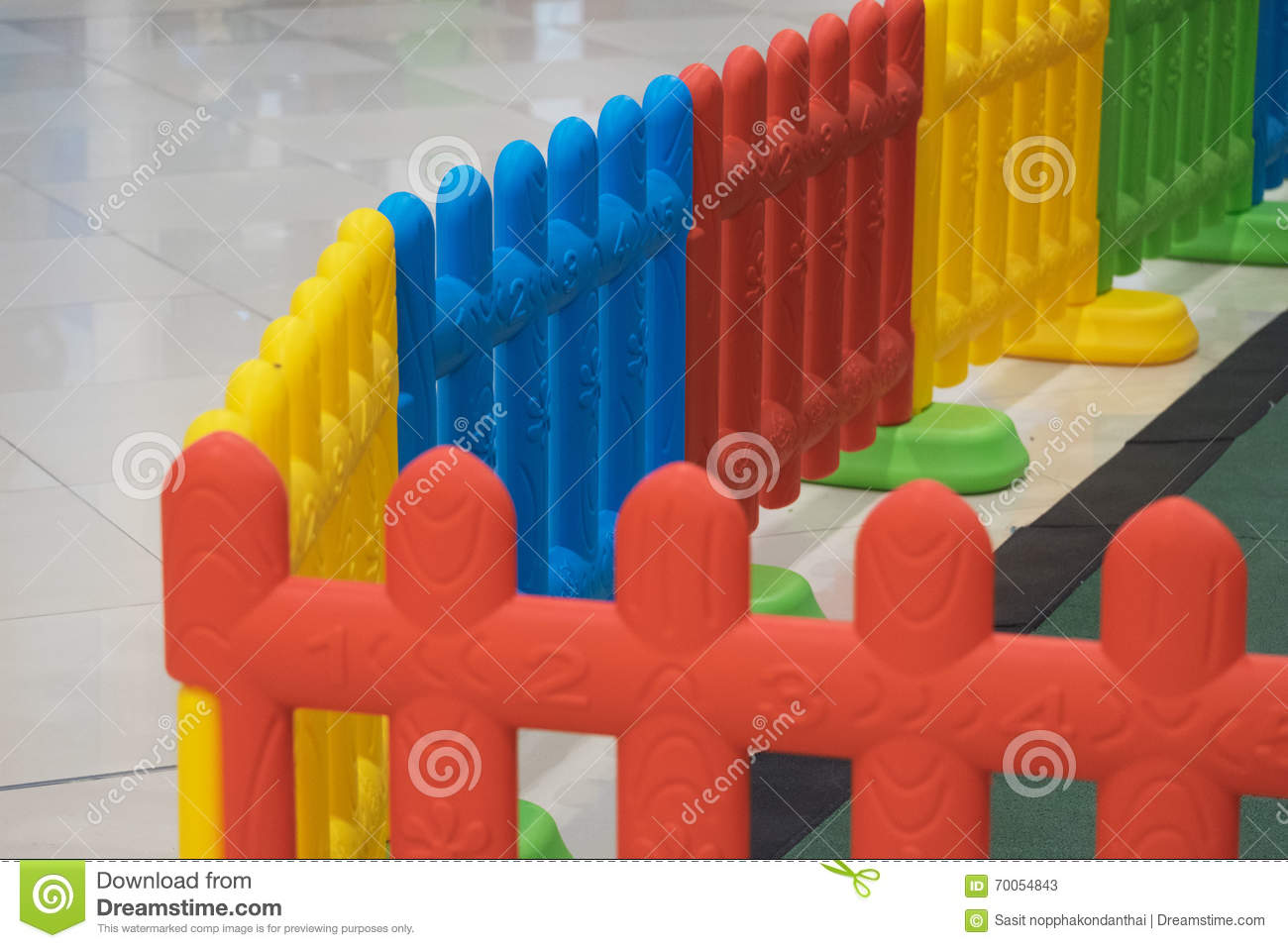 Plastic Fence For Kid In Playground For Safety Stock Image Image