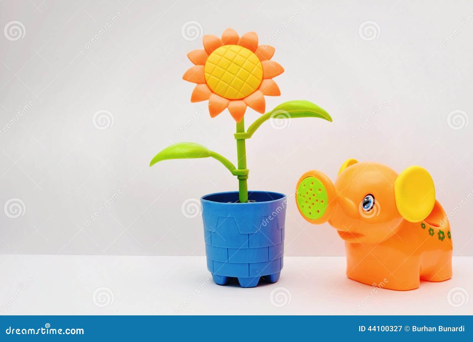 plastic flower toy stock image image of childhood orange 44100327. Black Bedroom Furniture Sets. Home Design Ideas