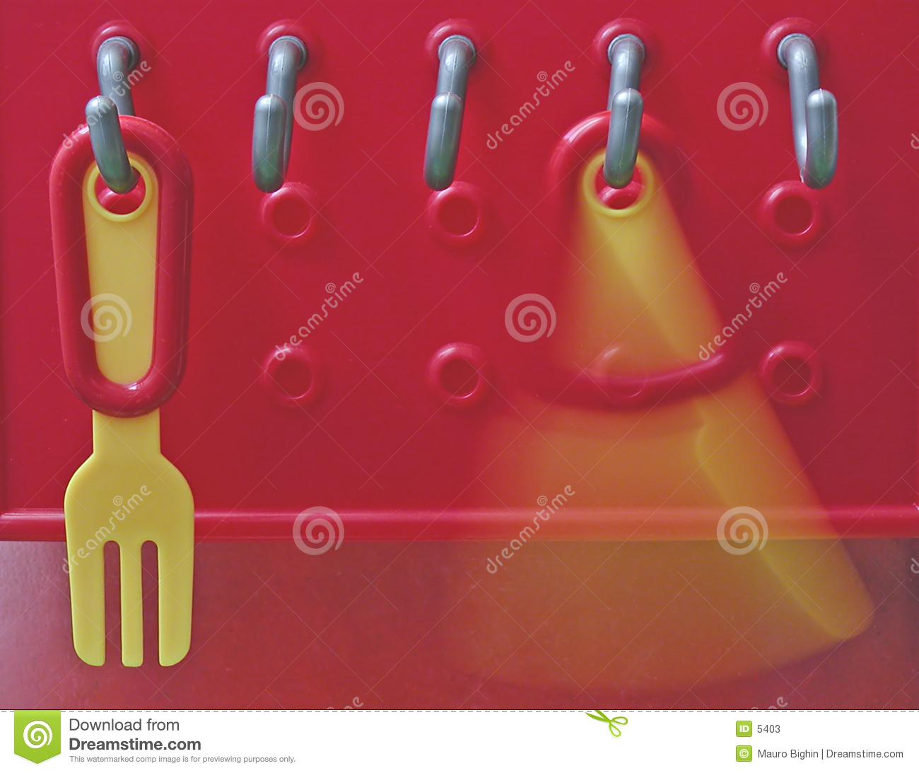Plastic fork and knife