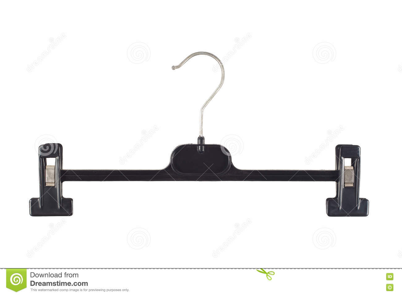 plastic hanger with grip isolated on white