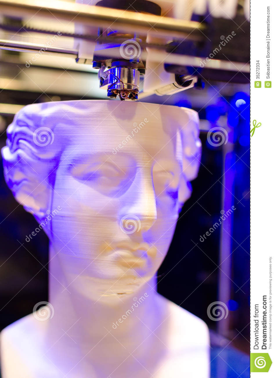Download 3D Printer With Printing Head Stock Photo - Image of ceramic, digitally: 35272334