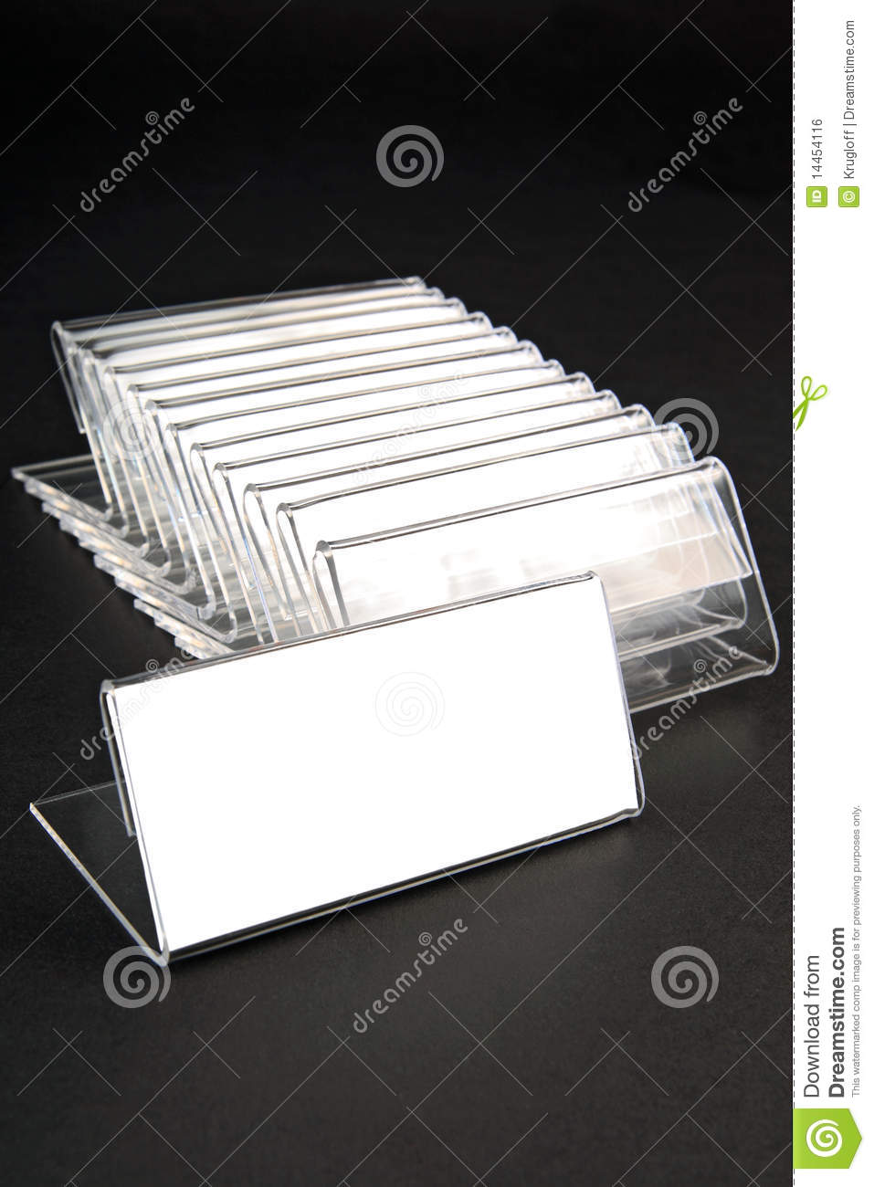 Plastic Holders For Price Tags Royalty Free Stock Image