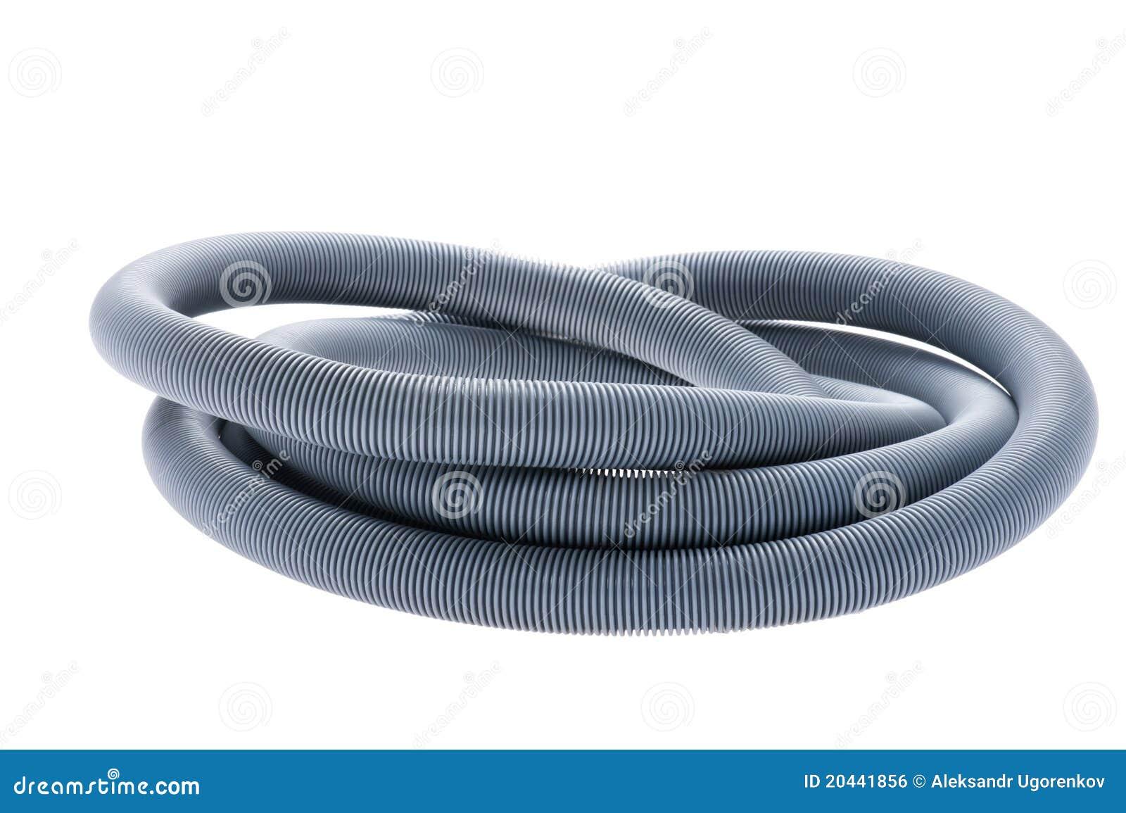 Plastic hose on white