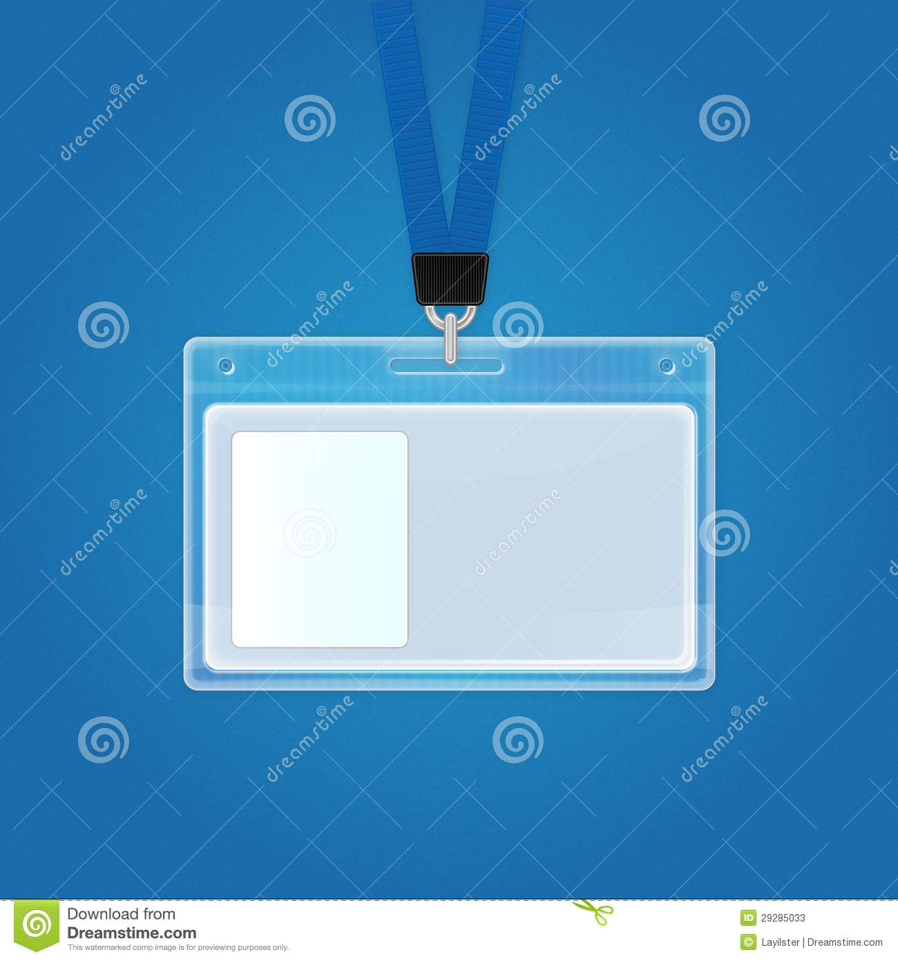 Plastic Id Badge Identification Card Icon Stock Photos