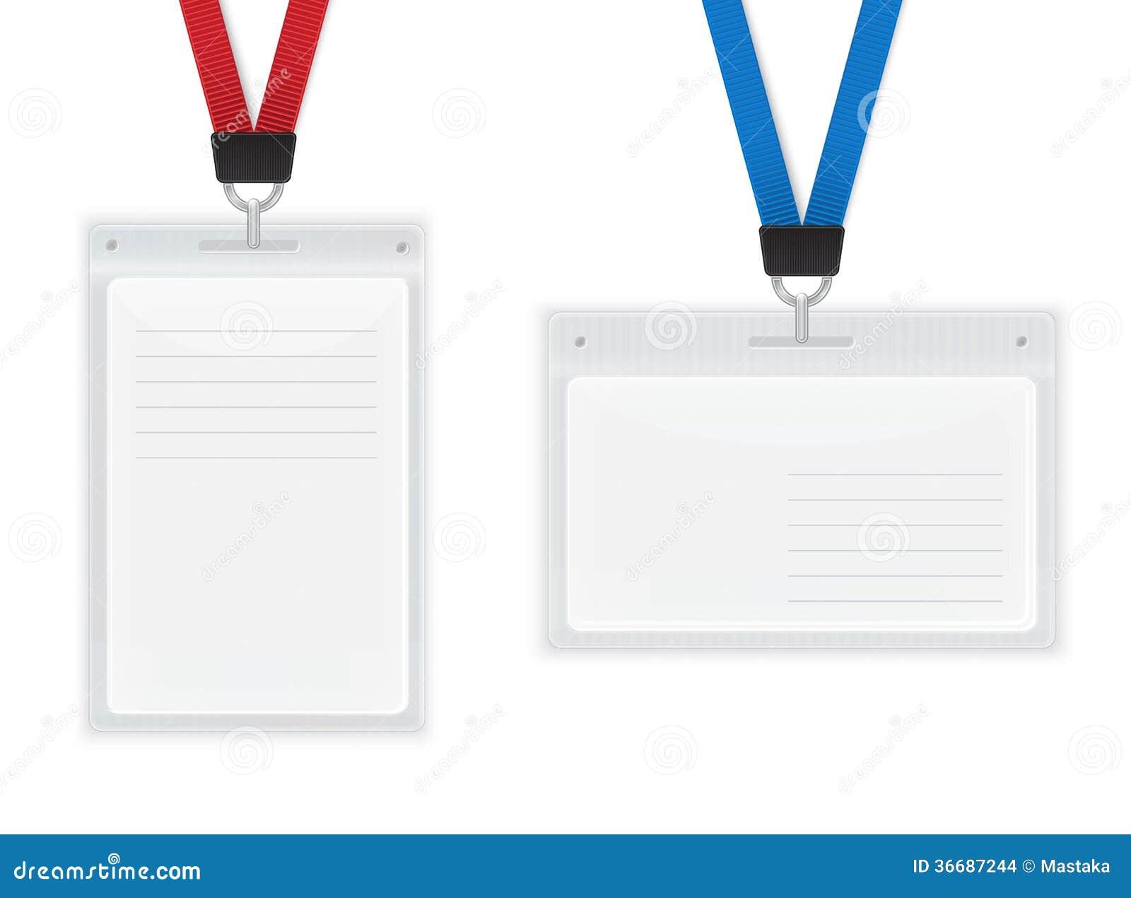plastic id badges stock illustration illustration of corporate