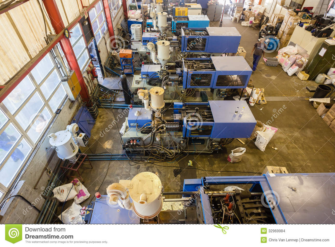 Plastic Injection Molding Factory Editorial Stock Image - Image of