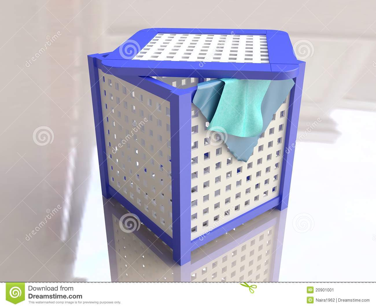 Plastic Laundry Basket In 3d Stock Image Image 20901001