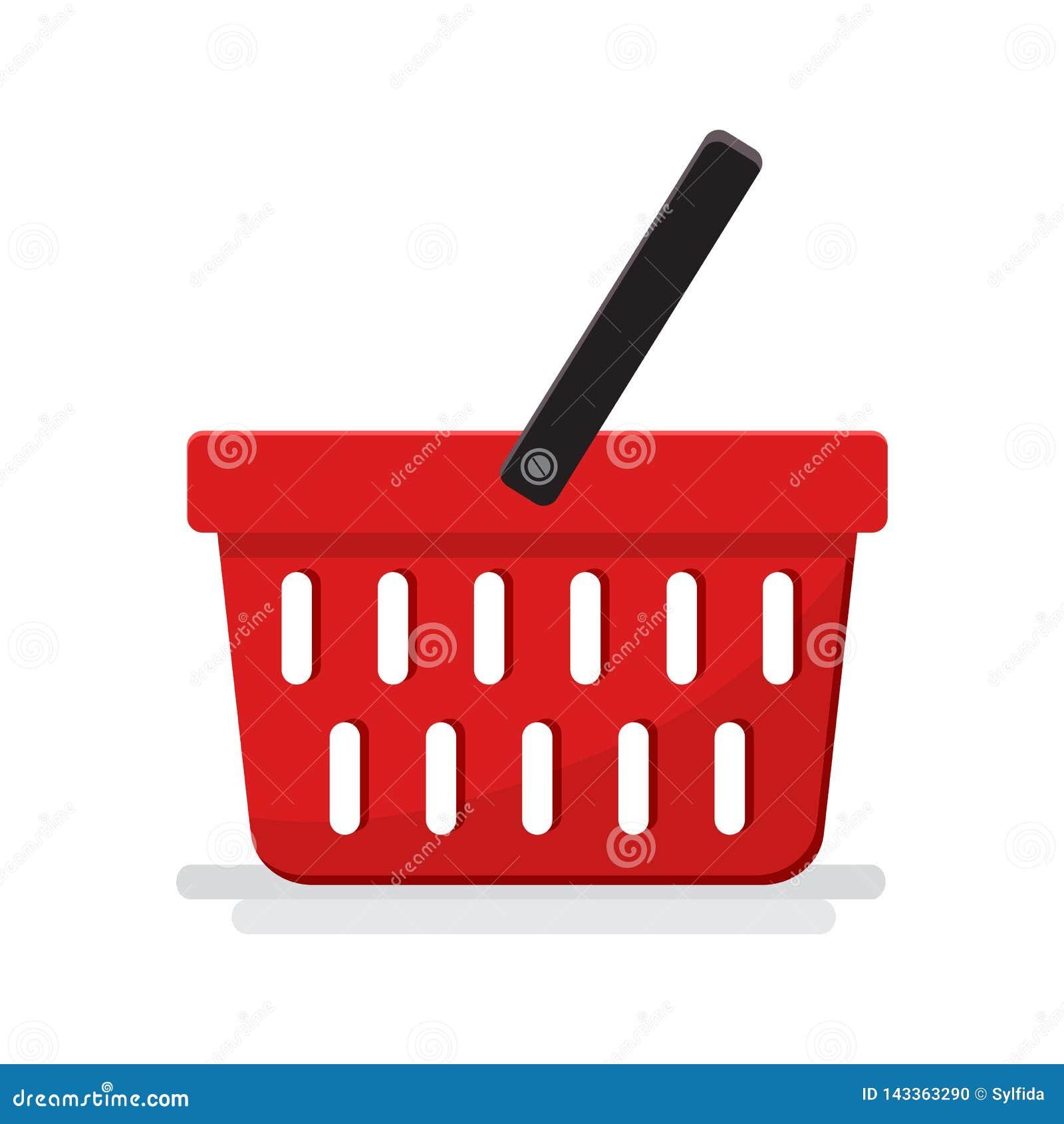 Plastic lege mand met supermarkt Vector illustratie