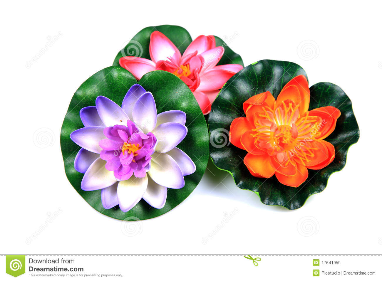 Plastic Lotus Flowers Royalty Free Stock Image