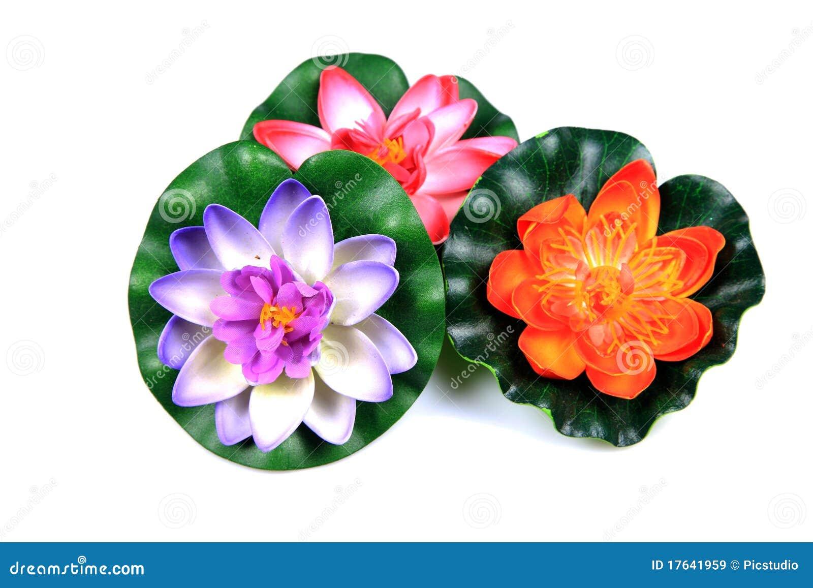 Plastic Lotus Flowers Stock Image Image Of Studio Decoration
