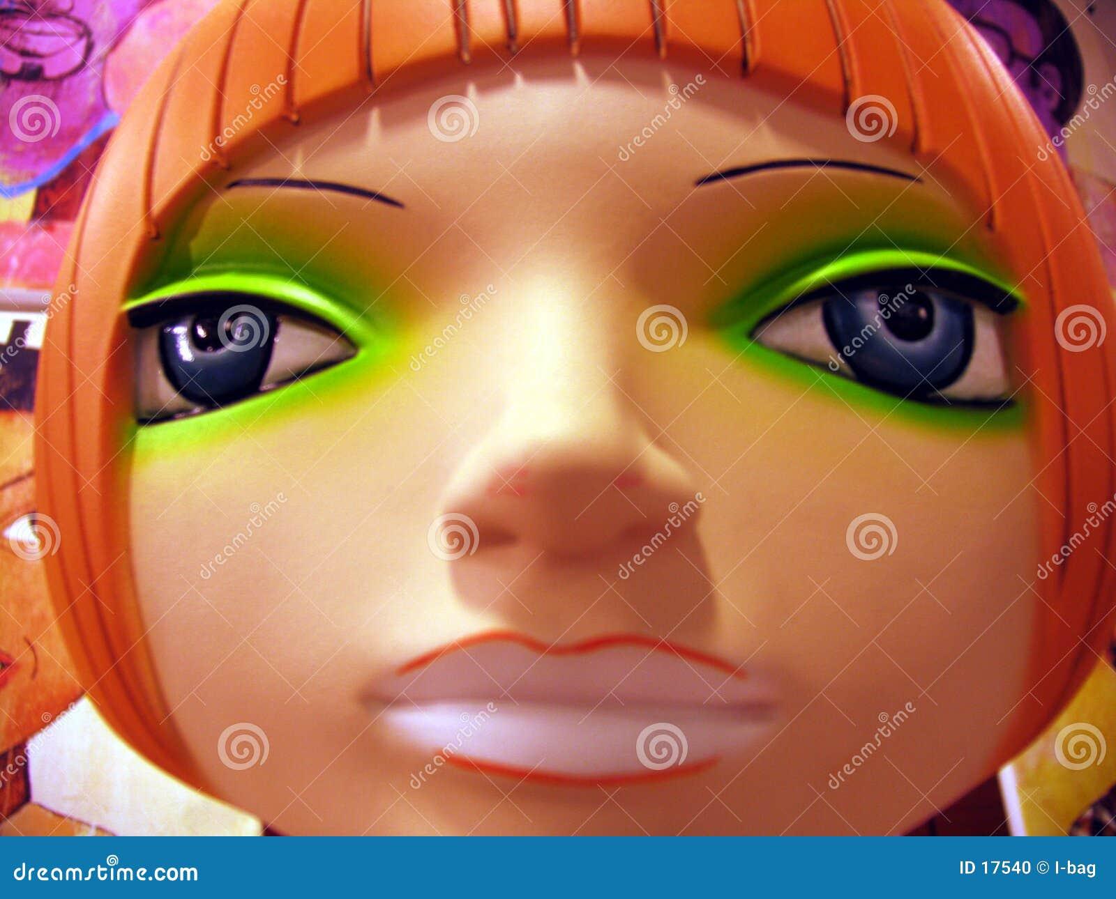 Plastic mannequin head