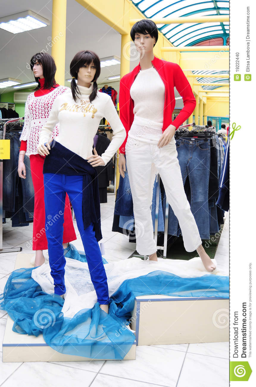 More similar stock images of ` Plastic mannequins in clothes store