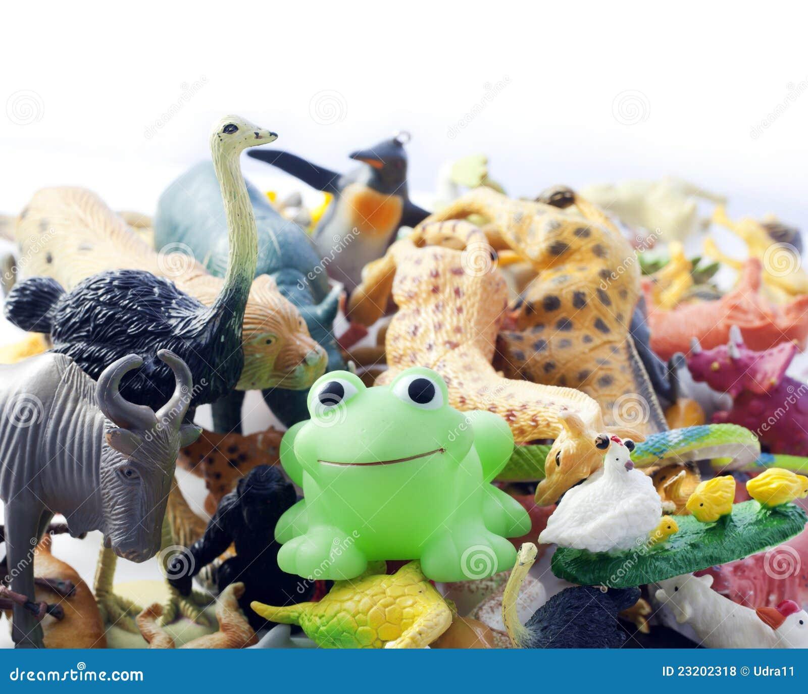 Plastic Messy Animals Toys Royalty Free Stock Photos