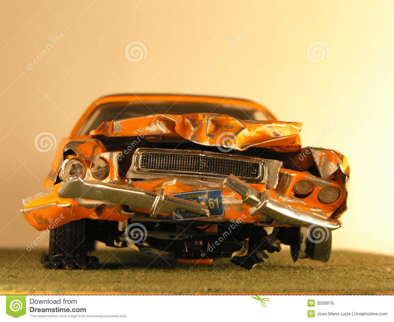 Plastic Model Of A Muscle Car Stock Photo - Image: 3559978