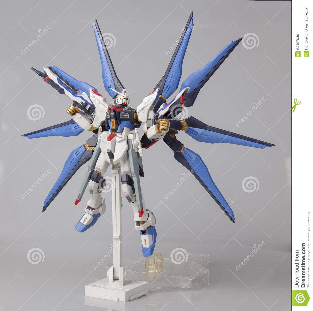 Plastic Model Of Strike Freedom Master Grade With Stand ...