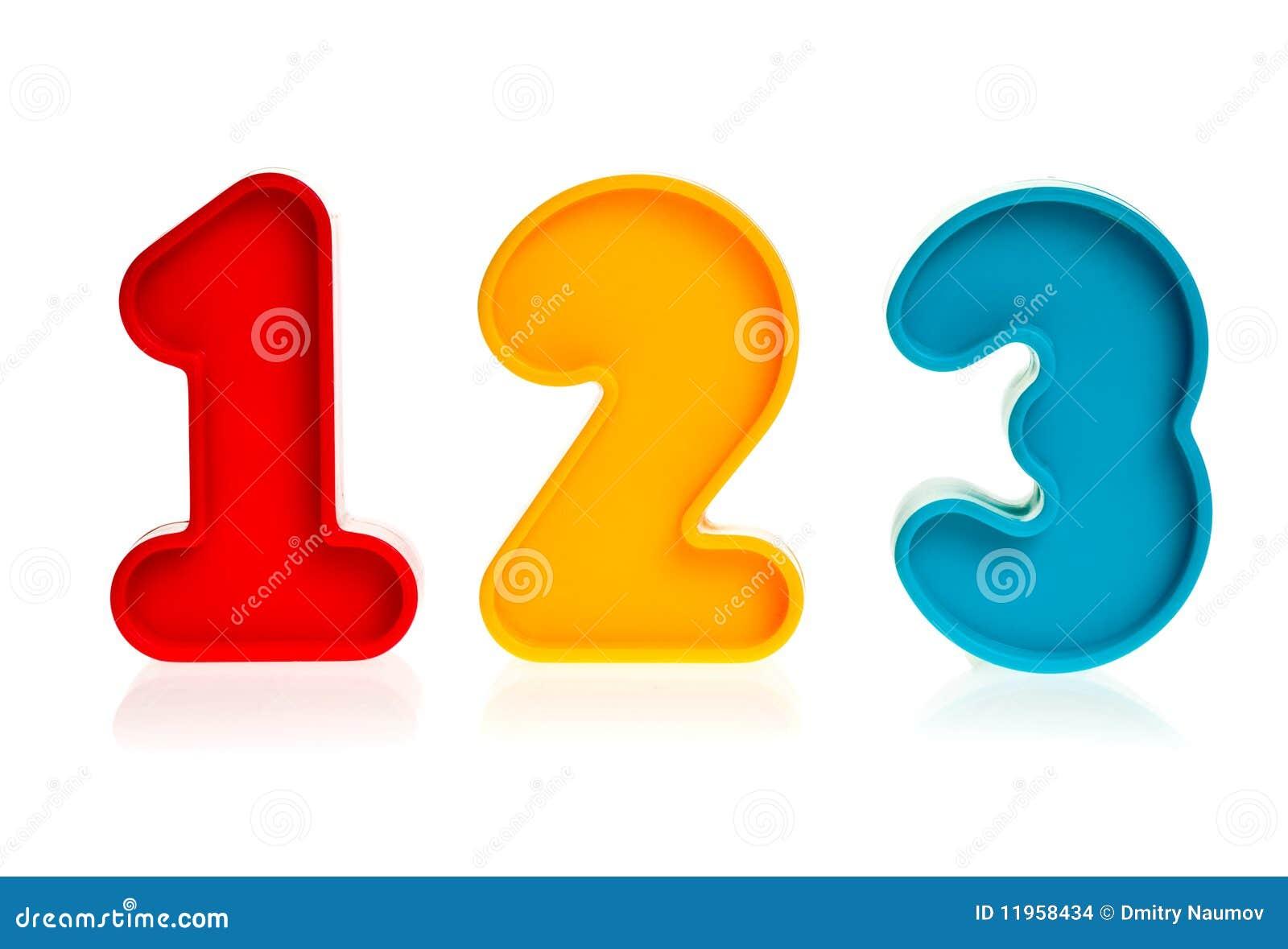 plastic numbers 123 stock images image 11958434. Black Bedroom Furniture Sets. Home Design Ideas