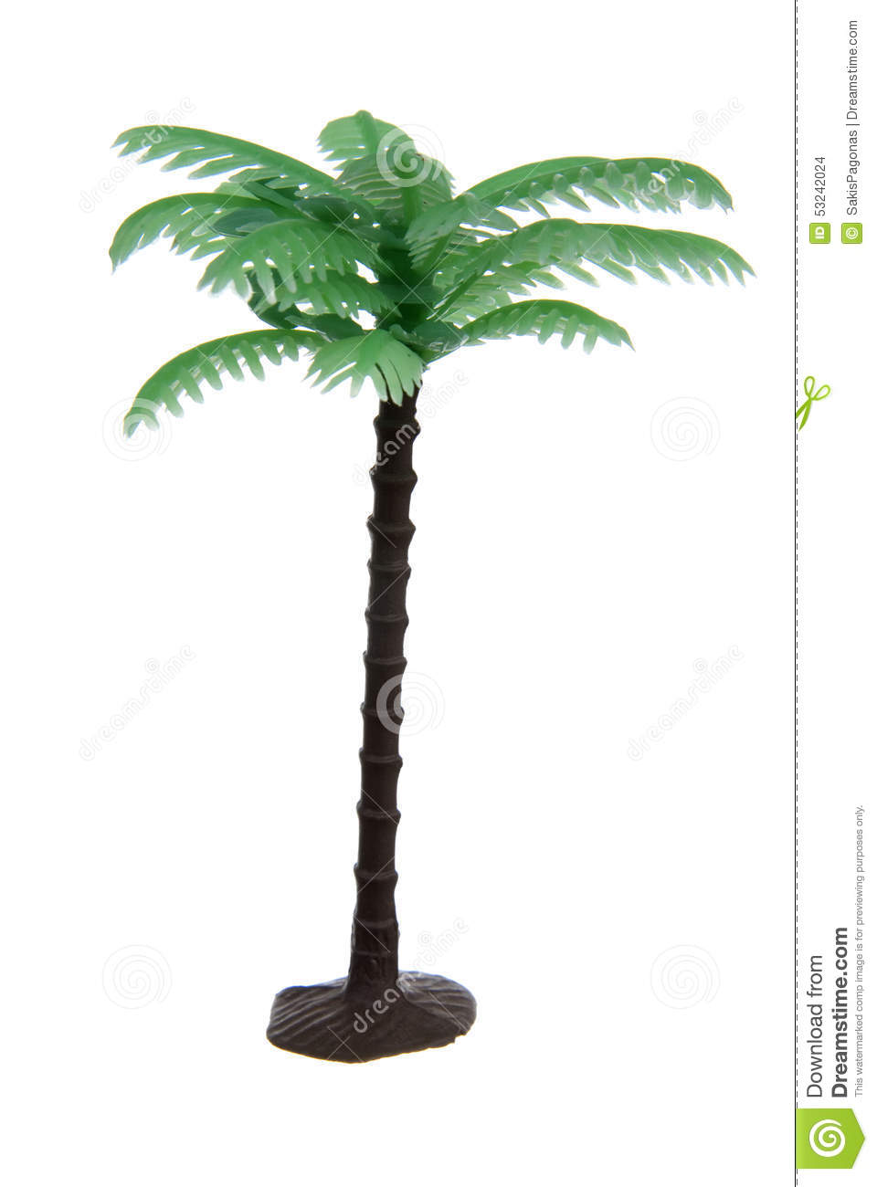 Plastic palm tree toy stock photo image of plant stem for Arbre maison jouet