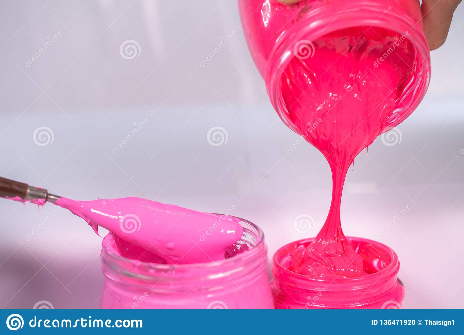 Plastic Pink Color And Hot Pink Color Stock Photo - Image of ...