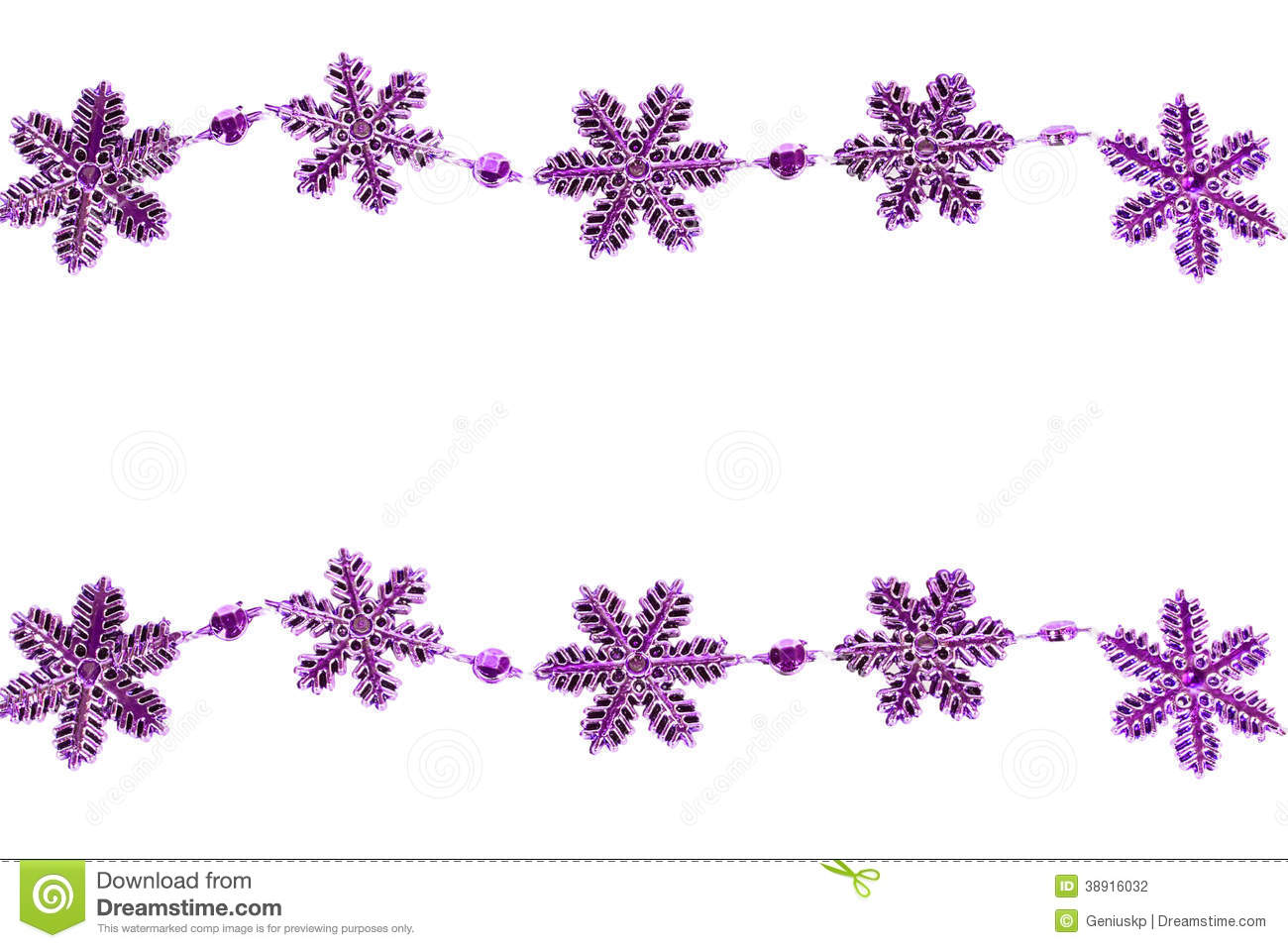 Plastic Purple Snowflakes Stock Illustration Image Of