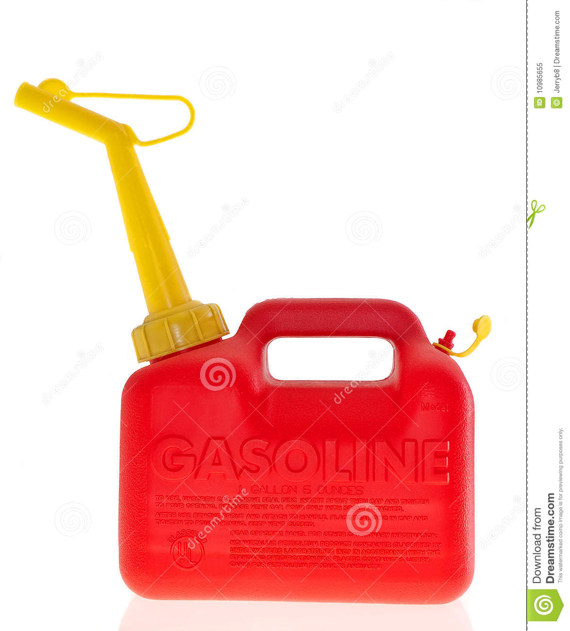 Plastic Gas Cans >> Plastic Red Gas Can Stock Image Image Of Unleaded Plastic 10985655