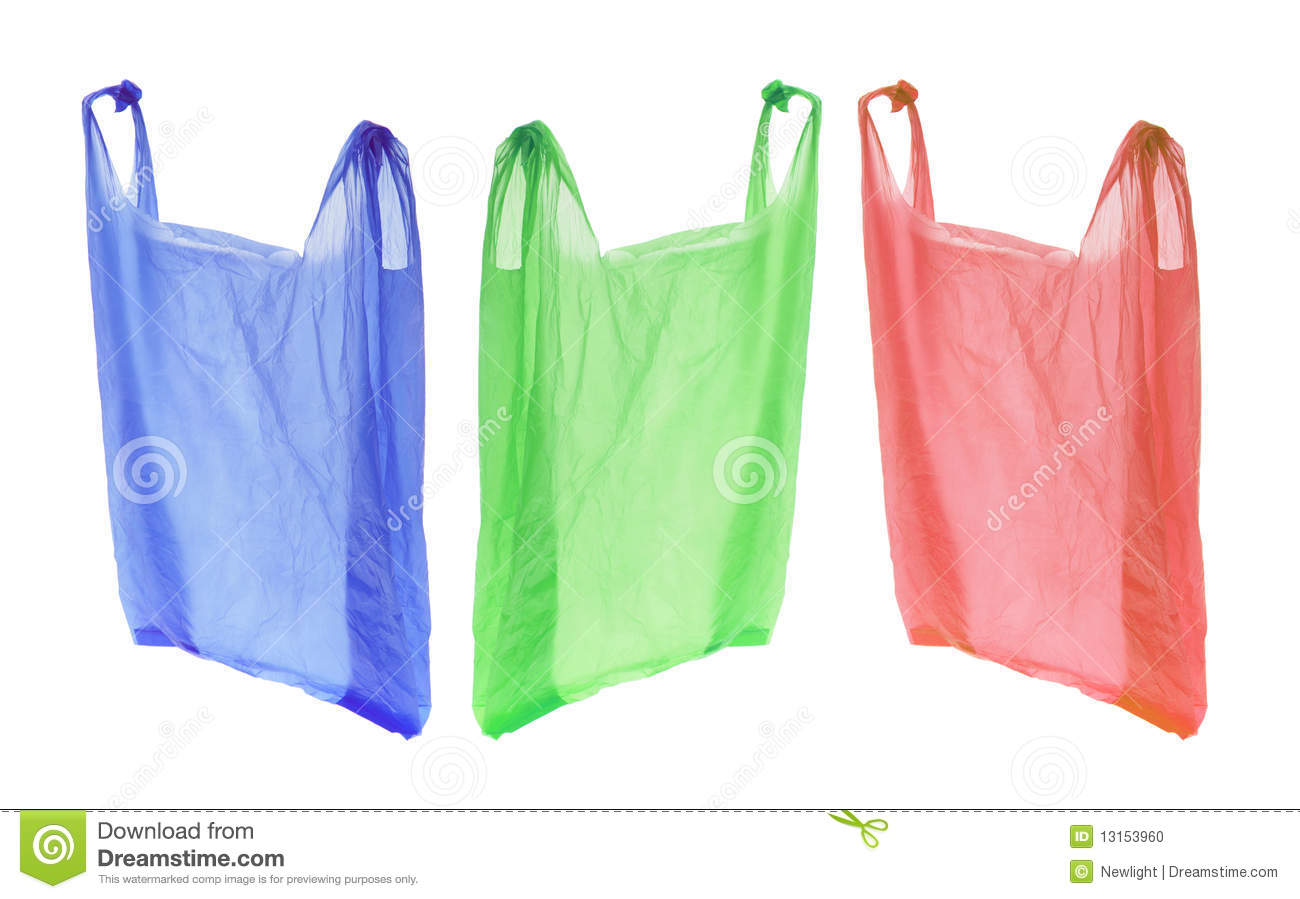 Plastic Shopping Bags Stock Photo - Image: 13153960