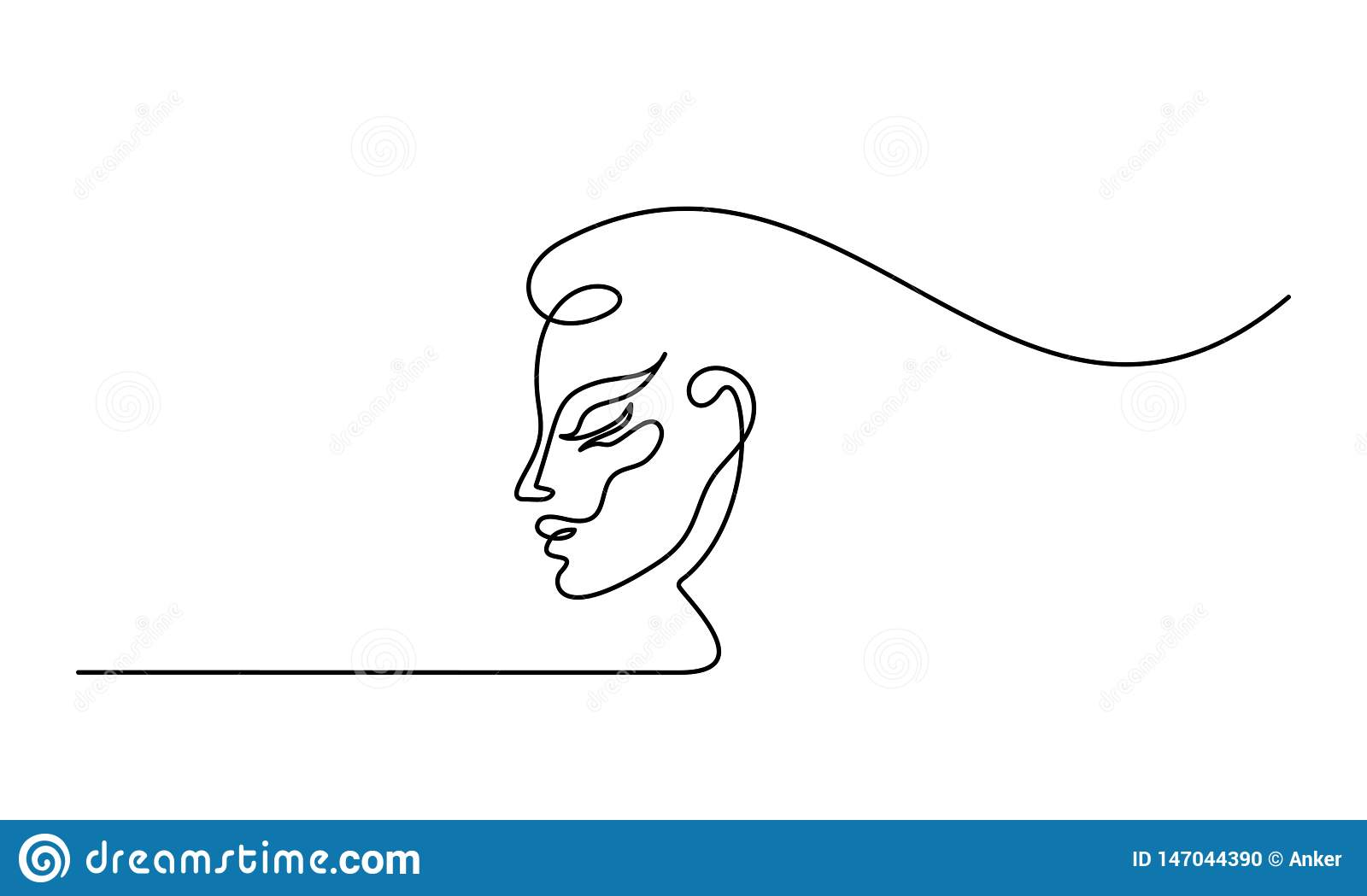 Plastic surgery of woman face line icon