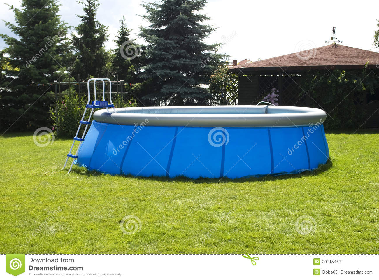 Plastic swiming pool royalty free stock photography for Plastic garden pool