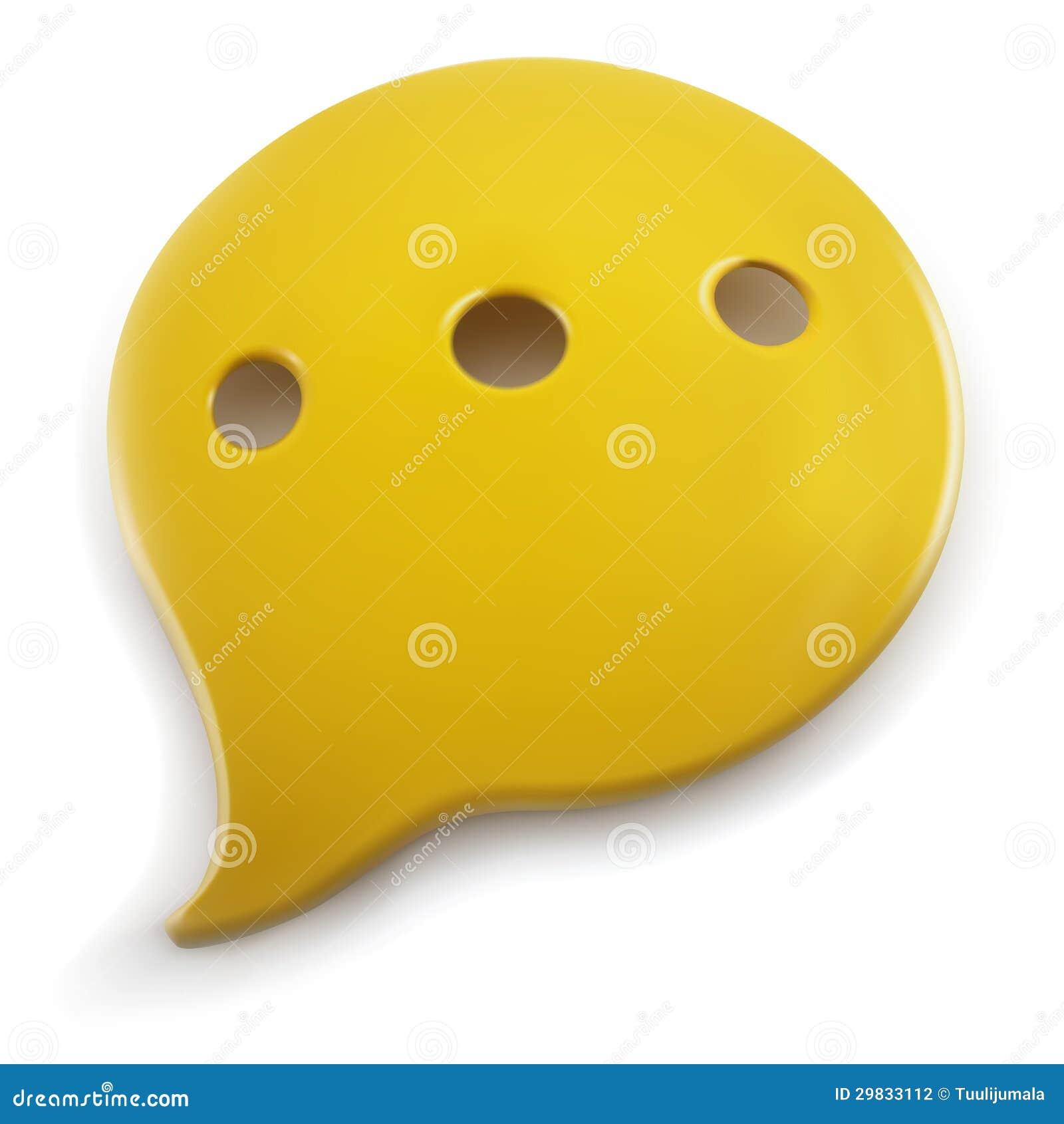 Plastic toespraakballon