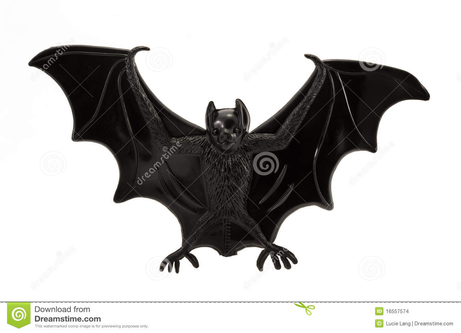 Plastic Toy Bat Over White Stock Images Image 16557574