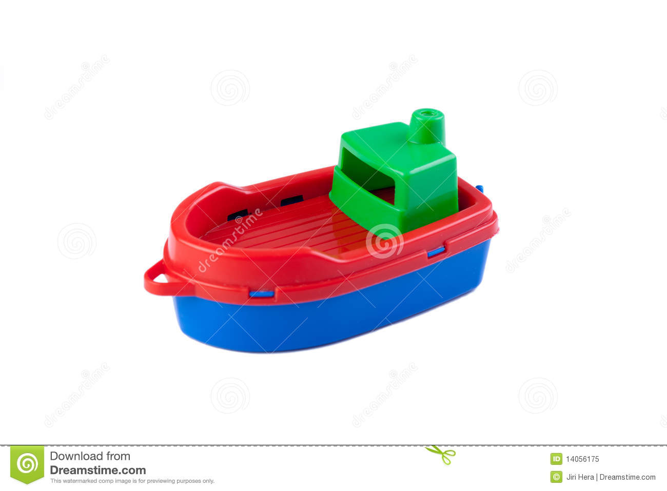 Plastic toy boat stock image. Image of coast, game ...