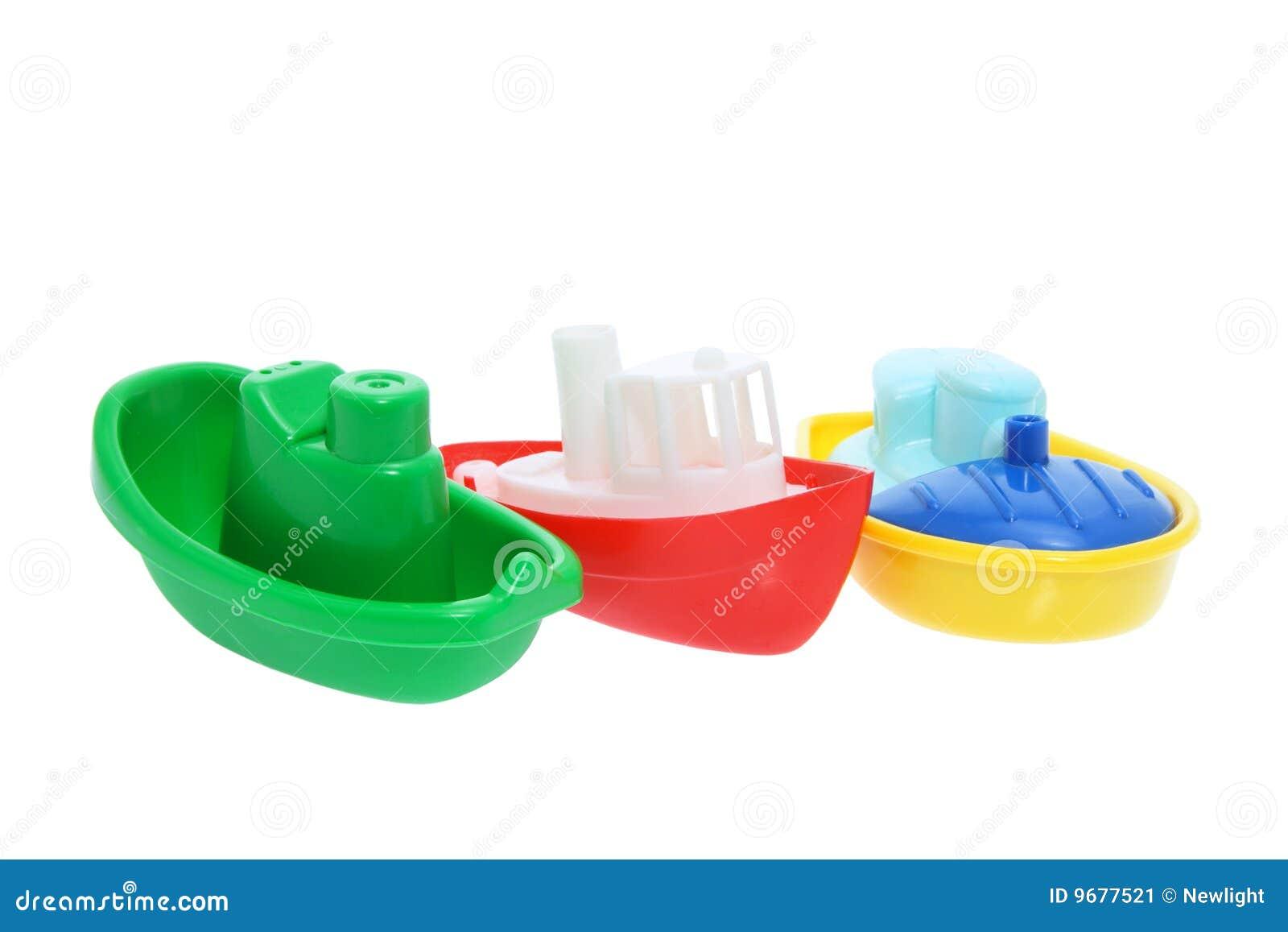 Plastic Toy Boats Stock Image Image Of Background Toys 9677521
