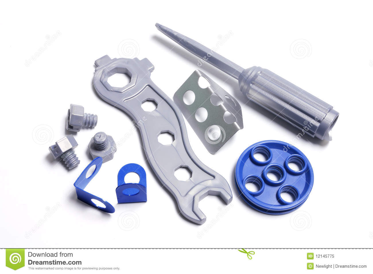 Plastic Toy Tools : Plastic toy tools royalty free stock photo image