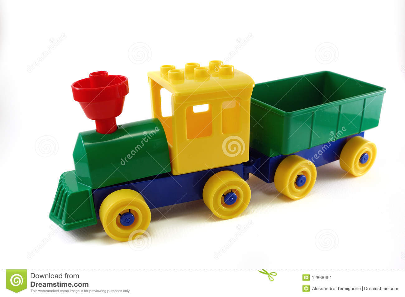 Toy train made with pl...