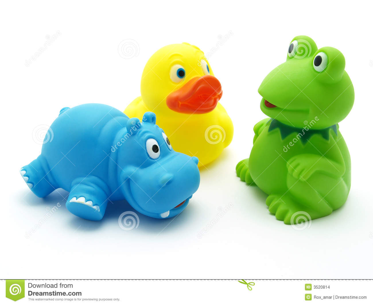 Plastic toys stock photo image of baby hippopotamus for Juguetes de plastico