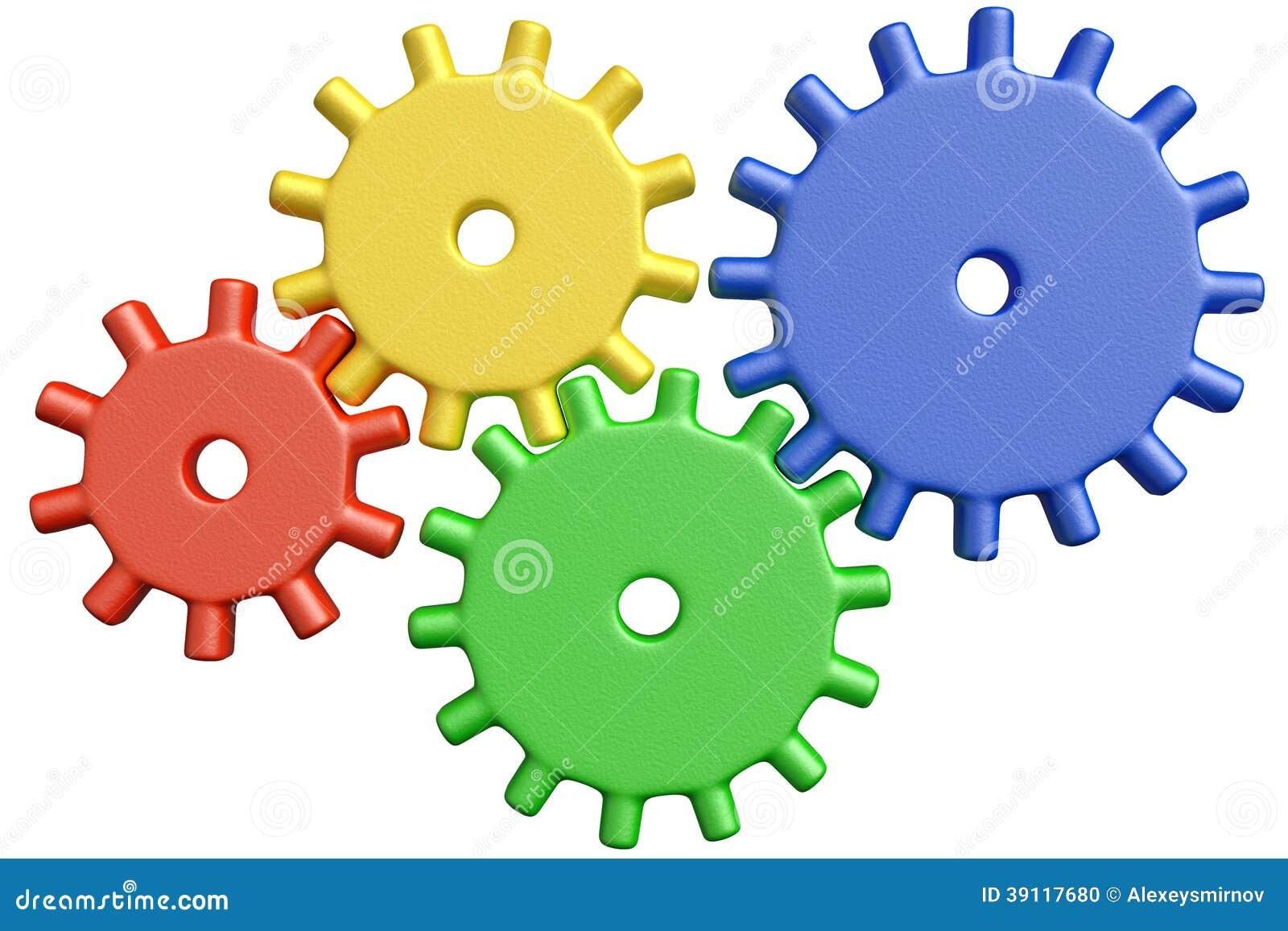 Plastic Toys Cogwheels Construction Stock Illustration ...