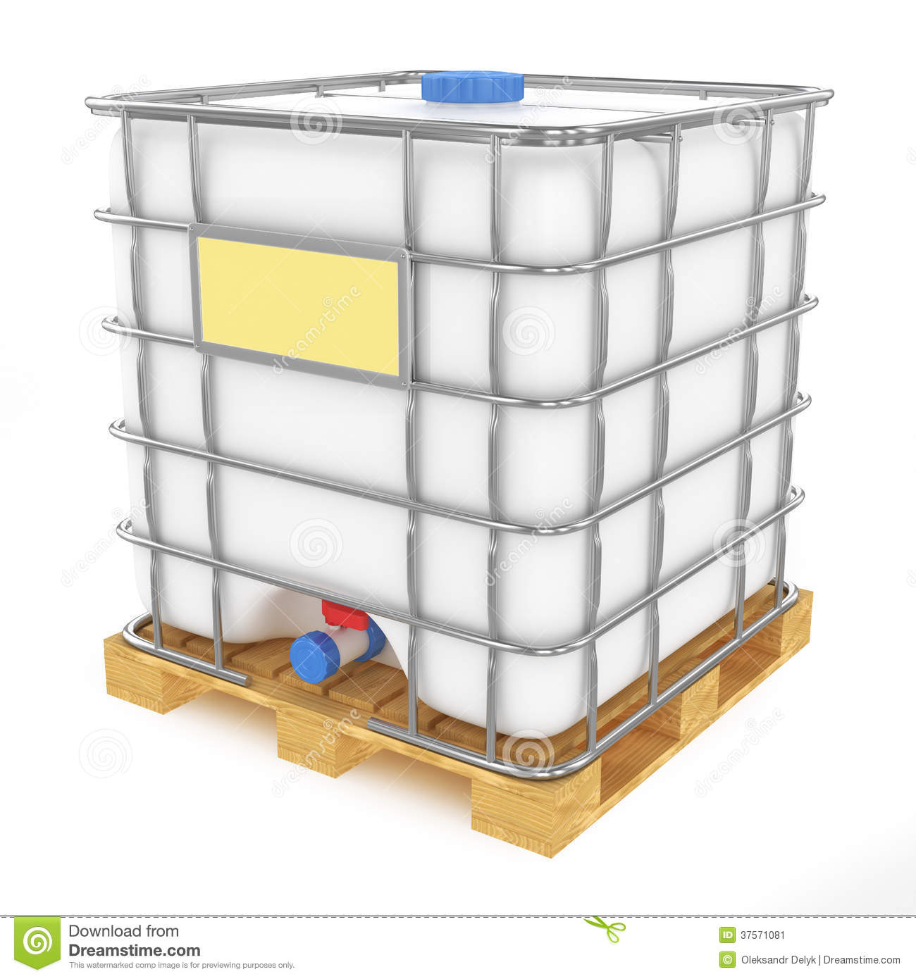 Plastic water tank on white background stock illustration for Plastic hot water tank