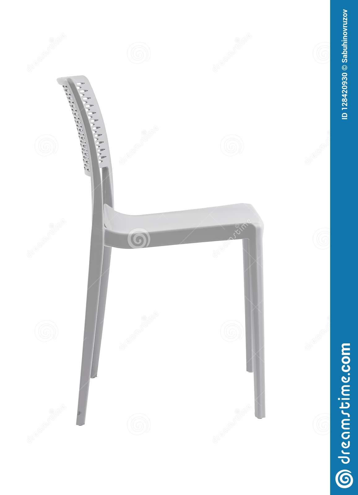 Plastic White Chair With A Wicker Back Patio Or Cafe
