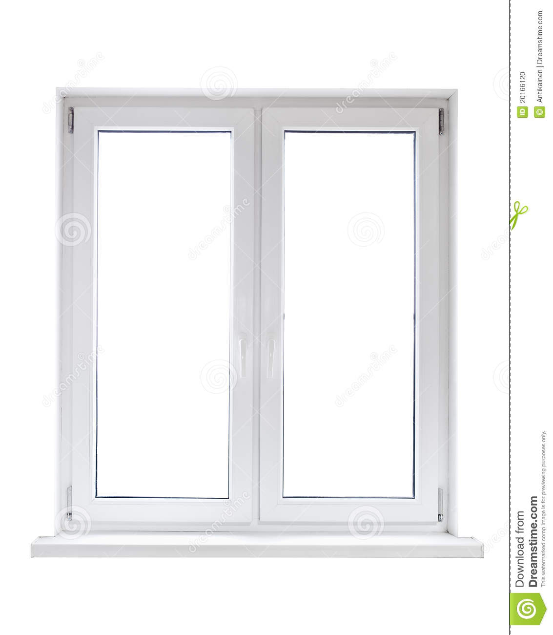 Plastic window stock photo image of glass closed for Window plastic